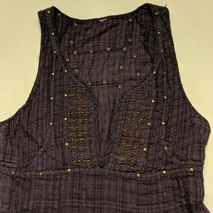 Free People purple tank top size small